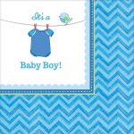 Amscan Baby Shower Boy Shower With Love Beverage Napkins (16)