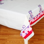 Creative Converting 1st Birthday Girl Sweet Stripes Plastic Tablecover