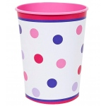 Creative Converting 1st Birthday Girl Sweet Stripes 12oz. Plastic Cup