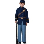 Civil War Soldier Child Costume - 6: Blue, 6, Everyday, Male, Child
