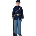 Civil War Soldier Child Costume - 8: Blue, 8, Everyday, Male, Child