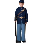Civil War Soldier Child Costume - 12: Blue, 12, Everyday, Male, Child