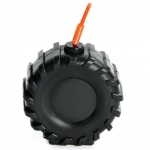 Tire Molded Cup: Black, Birthday