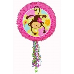 Monkey Love Pull-String Pinata: Multi-colored, Birthday