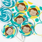 Birthday Express Mod Monkey Deluxe Lollipop Favor Kit