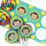 Birthday Express Mod Monkey Lollipop Favor Kit