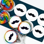 Birthday Express Little Man Mustache Lollipop Favor Kit