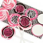 Birthday Express Diva Zebra Print Deluxe Lollipop Favor Kit