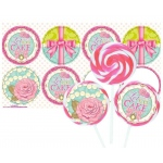 Birthday Express Princess Tea Party Deluxe Lollipop Favor Kit