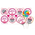 Birthday Express Sock Monkey Pink Lollipop Favor Kit