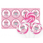 Birthday Express Sock Monkey Pink Deluxe Lollipop Favor Kit