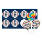 Birthday Express Baseball Time Lollipop Favor Kit