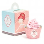Ballerina Tutu Cupcake Wrapper & Box Kit: Birthday