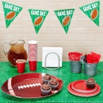 BuySeasons Football Tailgate Red and White Party Pack