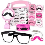 BuySeasons Pink Mustache Filled Party Favor Box