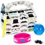 BuySeasons Mustache Man Filled Party Favor Box