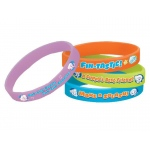 Bubble Guppies Rubber Bracelets (6): Birthday