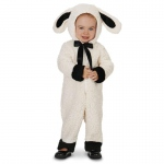 Black and White Baby Lamb Infant Costume - 6-12M