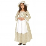 Colony Girl Child Costume S (4-6): Small, Everyday, Child