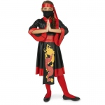 Black and Red Ninja Dress Child Costume - Small (4-6)