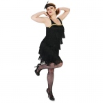 Black Flapper Adult Costume - Small