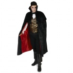 Black Gothic Vampire Male Adult Costume - Large