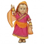 "Dream Weavers Costumers Bollywood 18"" Doll Costume 18"" Doll"
