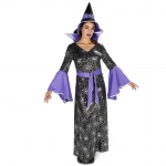 Enchanting Witch Foil Printed Dress Adult Costume - Medium
