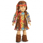 "Fringe 60's Hippie 18"" Doll Costume: 18"" Doll, Everyday, Child"