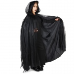 Dream Weavers Costumers Hooded Lined Black Mesh Adult Cape One-Size