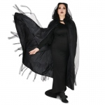 Dream Weavers Costumers Hooded Lined Black Mesh Adult Plus Cape One-Size