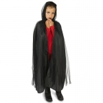 Dream Weavers Costumers Hooded Lined Black Mesh Child Cape One-Size