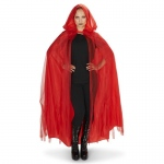 Dream Weavers Costumers Hooded Lined Red Mesh Adult Cape One-Size