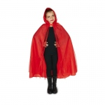 Dream Weavers Costumers Hooded Lined Red Mesh Child Cape One-Size