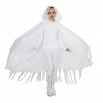 Dream Weavers Costumers Hooded Lined White Mesh Adult Cape One-Size