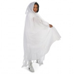 Dream Weavers Costumers Hooded Lined White Mesh Adult Plus Cape One-Size