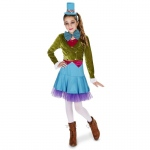 Lime Green & Blue Mad Hatter Tween Costume - Juniors 0-3