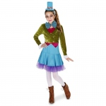 Lime Green & Blue Mad Hatter Tween Costume - Juniors 5-9