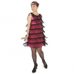 20's Pink Flapper Adult Costume - Large