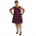 Dream Weavers Costumers 20's Pink Flapper Adult Plus Costume Plus 1X
