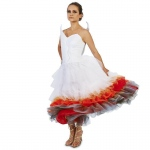Flaming Winged Wedding Dress Adult Costume - Small