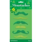 Amscan Green Mustaches (Pack of 6) One size
