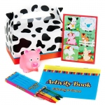 Barnyard 2nd Birthday Favor Box (4): Birthday