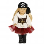 "Pirate Tutu 18"" Doll Costume: 18"" Doll, Everyday, Child"