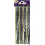 Amscan Mardi Gras Beads (Pack of 24) One-Size