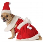 Mrs. Claus Pet Costume - Small
