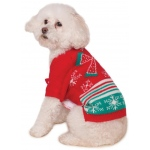 Ugly  Christmas Sweater with Bow Pet Costume - Large