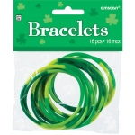 BuySeasons Green Rubber Bracelets (Pack of 16) One-Size