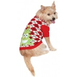 BuySeasons Ugly Christmas Sweater with Trees Pet Costume Small