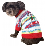 BuySeasons Ugly Christmas Sweater with Candy Canes Pet Costume Small